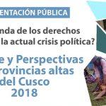 Balance y Perspectivas de los Derechos Humanos en las Provincias Altas del Cusco