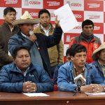 Cusco exige derogatoria del Estado de Emergencia en corredor minero